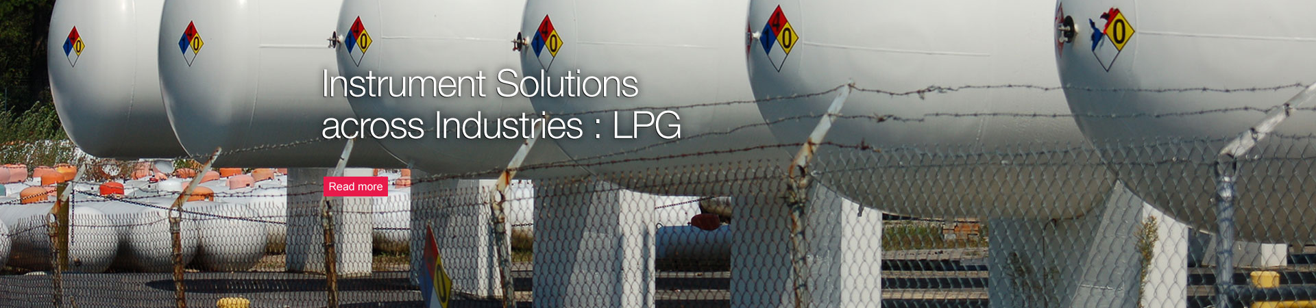 Instrument Solutions across Industries : LPG