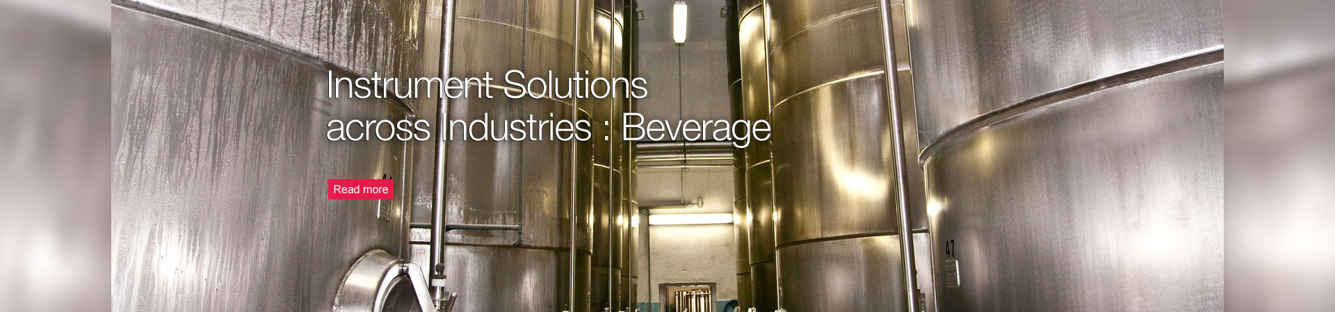 Instrument Solutions across Industries : Beverage